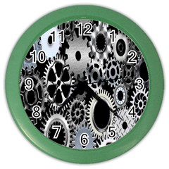 Gears Technology Steel Mechanical Chain Iron Color Wall Clocks