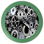 Gears Technology Steel Mechanical Chain Iron Color Wall Clocks Front