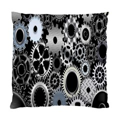 Gears Technology Steel Mechanical Chain Iron Standard Cushion Case (one Side) by Mariart