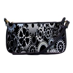 Gears Technology Steel Mechanical Chain Iron Shoulder Clutch Bags by Mariart