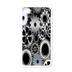 Gears Technology Steel Mechanical Chain Iron Apple Iphone 4 Case (white) by Mariart