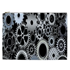 Gears Technology Steel Mechanical Chain Iron Cosmetic Bag (xxl)  by Mariart