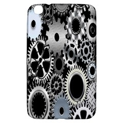 Gears Technology Steel Mechanical Chain Iron Samsung Galaxy Tab 3 (8 ) T3100 Hardshell Case  by Mariart