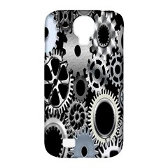Gears Technology Steel Mechanical Chain Iron Samsung Galaxy S4 Classic Hardshell Case (pc+silicone) by Mariart