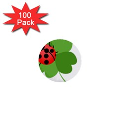 Insect Flower Floral Animals Green Red 1  Mini Buttons (100 Pack)