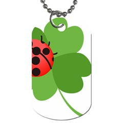 Insect Flower Floral Animals Green Red Dog Tag (one Side) by Mariart