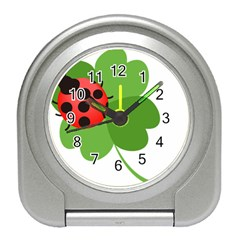 Insect Flower Floral Animals Green Red Travel Alarm Clocks by Mariart