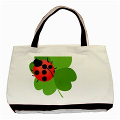 Insect Flower Floral Animals Green Red Basic Tote Bag by Mariart
