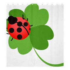Insect Flower Floral Animals Green Red Shower Curtain 66  X 72  (large)  by Mariart