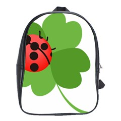 Insect Flower Floral Animals Green Red School Bags(large)