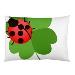 Insect Flower Floral Animals Green Red Pillow Case (two Sides) by Mariart