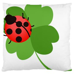 Insect Flower Floral Animals Green Red Large Cushion Case (one Side) by Mariart