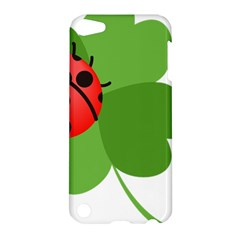 Insect Flower Floral Animals Green Red Apple Ipod Touch 5 Hardshell Case by Mariart