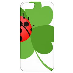 Insect Flower Floral Animals Green Red Apple Iphone 5 Classic Hardshell Case by Mariart