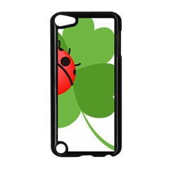 Insect Flower Floral Animals Green Red Apple Ipod Touch 5 Case (black) by Mariart