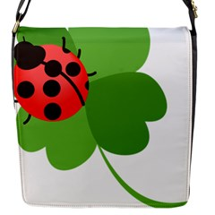 Insect Flower Floral Animals Green Red Flap Messenger Bag (s) by Mariart