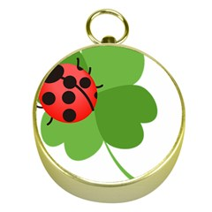 Insect Flower Floral Animals Green Red Gold Compasses by Mariart