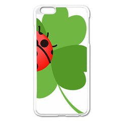Insect Flower Floral Animals Green Red Apple Iphone 6 Plus/6s Plus Enamel White Case by Mariart