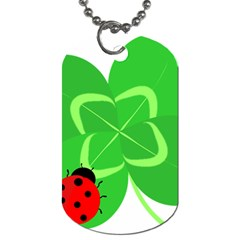 Insect Flower Floral Animals Green Red Line Dog Tag (two Sides) by Mariart