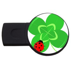 Insect Flower Floral Animals Green Red Line Usb Flash Drive Round (4 Gb) by Mariart