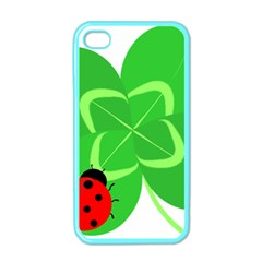 Insect Flower Floral Animals Green Red Line Apple Iphone 4 Case (color) by Mariart