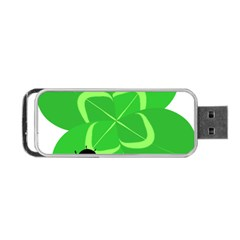 Insect Flower Floral Animals Green Red Line Portable Usb Flash (one Side) by Mariart
