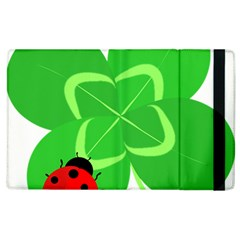 Insect Flower Floral Animals Green Red Line Apple Ipad 3/4 Flip Case by Mariart
