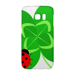 Insect Flower Floral Animals Green Red Line Galaxy S6 Edge by Mariart