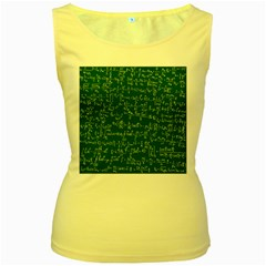Formula Number Green Board Women s Yellow Tank Top by Mariart