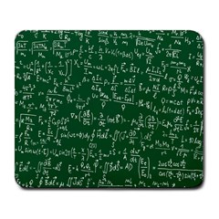 Formula Number Green Board Large Mousepads by Mariart