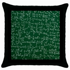 Formula Number Green Board Throw Pillow Case (black) by Mariart