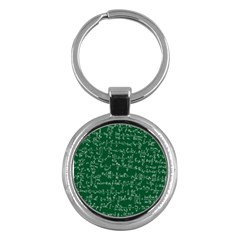 Formula Number Green Board Key Chains (round)  by Mariart