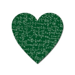 Formula Number Green Board Heart Magnet by Mariart