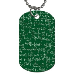 Formula Number Green Board Dog Tag (one Side) by Mariart