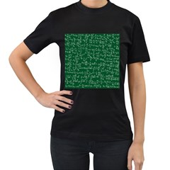 Formula Number Green Board Women s T Shirt (black) (two Sided) by Mariart