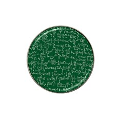 Formula Number Green Board Hat Clip Ball Marker by Mariart