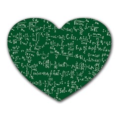 Formula Number Green Board Heart Mousepads by Mariart
