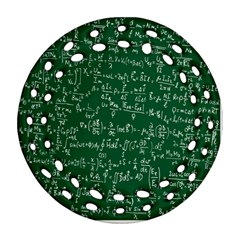 Formula Number Green Board Round Filigree Ornament (two Sides) by Mariart