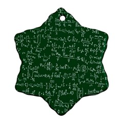 Formula Number Green Board Snowflake Ornament (two Sides) by Mariart