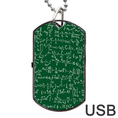 Formula Number Green Board Dog Tag Usb Flash (one Side) by Mariart