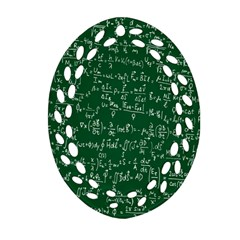 Formula Number Green Board Ornament (oval Filigree) by Mariart