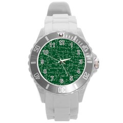 Formula Number Green Board Round Plastic Sport Watch (l) by Mariart