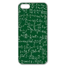 Formula Number Green Board Apple Seamless Iphone 5 Case (clear) by Mariart