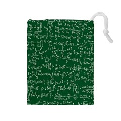 Formula Number Green Board Drawstring Pouches (large)  by Mariart