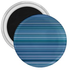 Horizontal Line Blue 3  Magnets by Mariart