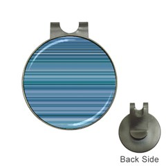 Horizontal Line Blue Hat Clips With Golf Markers by Mariart