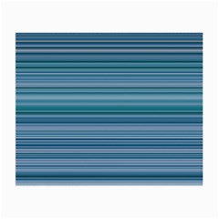 Horizontal Line Blue Small Glasses Cloth by Mariart