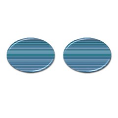 Horizontal Line Blue Cufflinks (oval) by Mariart