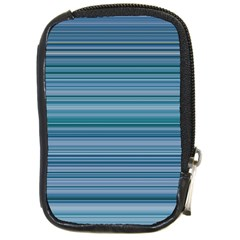 Horizontal Line Blue Compact Camera Cases by Mariart