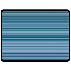 Horizontal Line Blue Fleece Blanket (large)  by Mariart